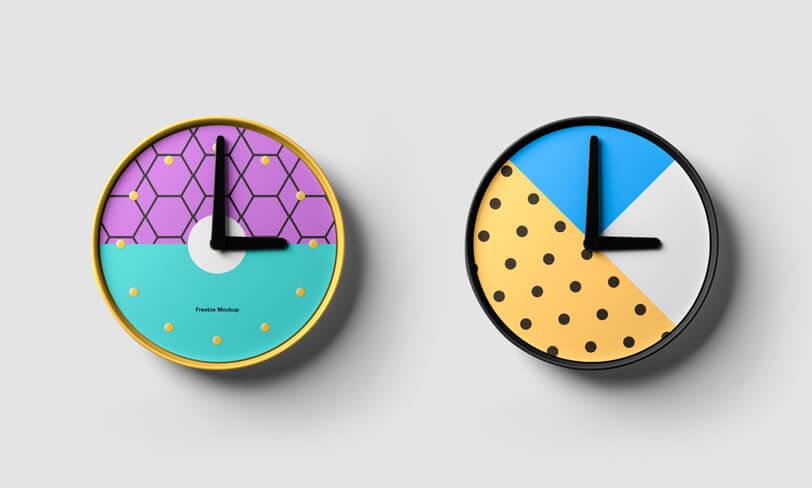 darmowy mockup zegara