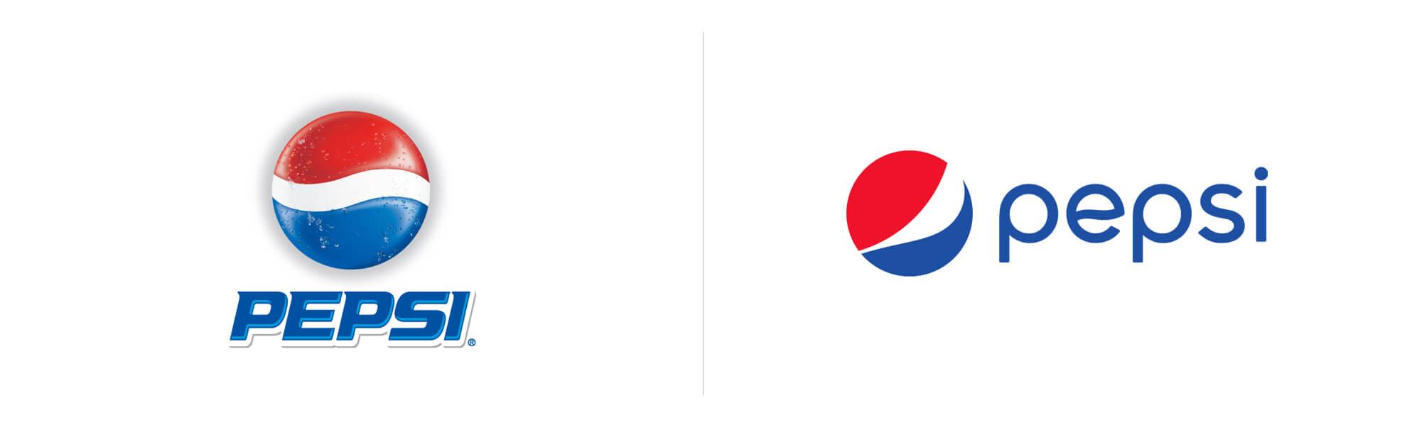 Noe logo Pepsi wprowadzone w2009 roku