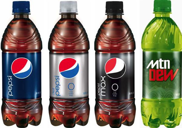 Pepsi rebranding 2009 butelki