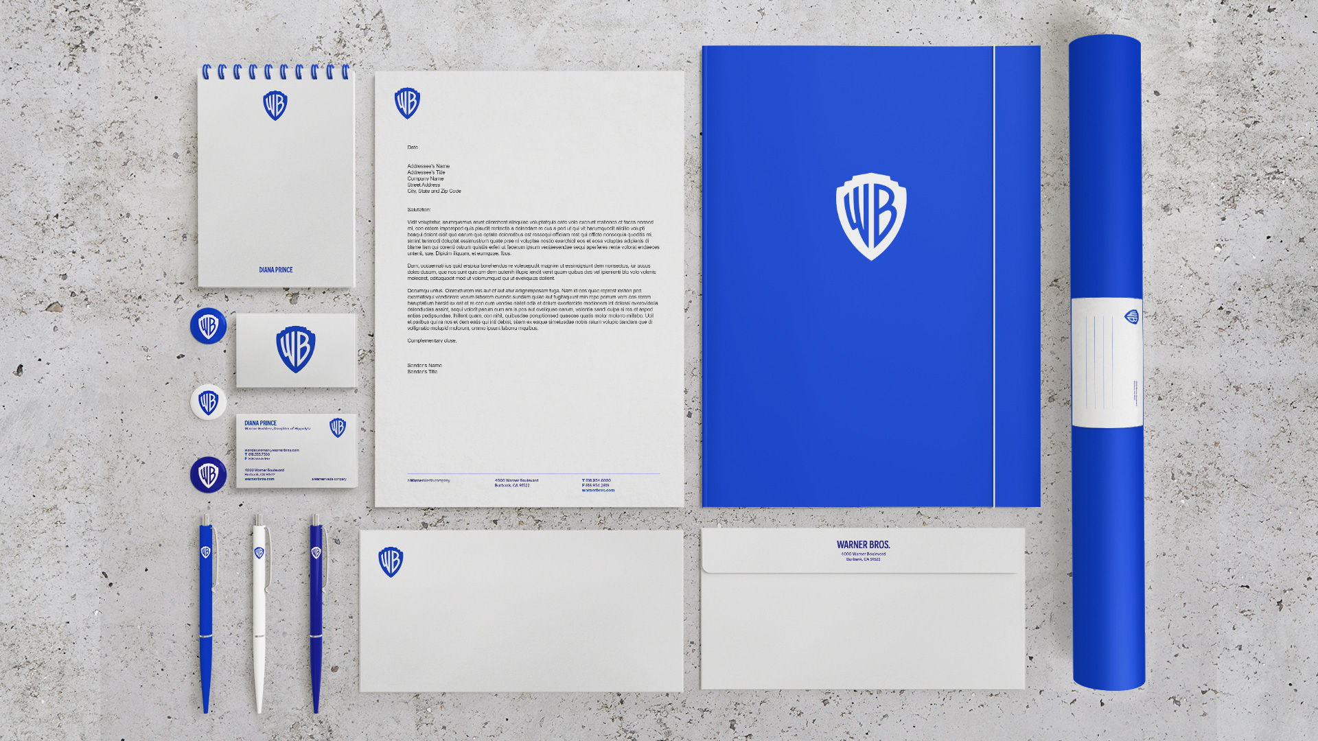 warner bros stationery