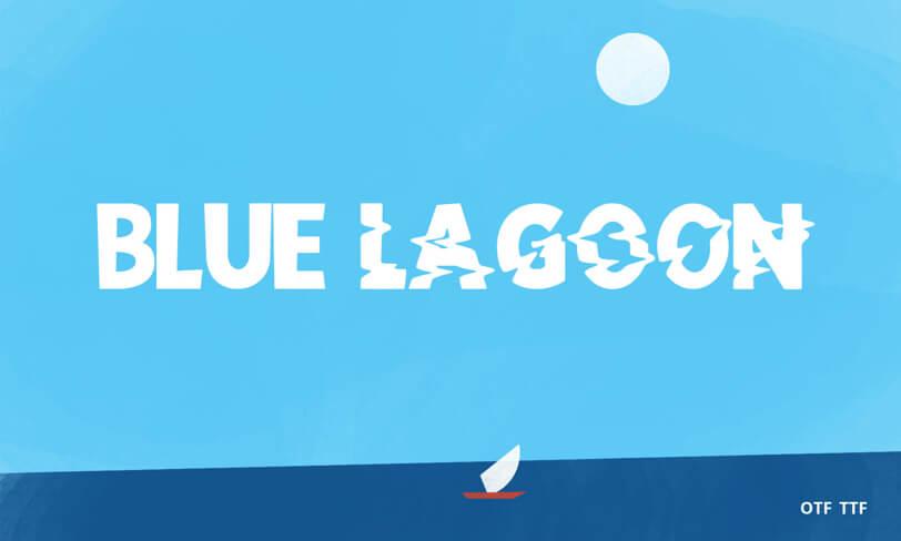 darmowy font Blue Lagoon