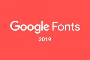 najpopularniejsze czcionki w Google Fonts 2019