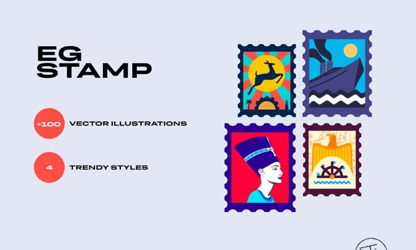 darmowe ilustracje znaczek pocztowy egipt