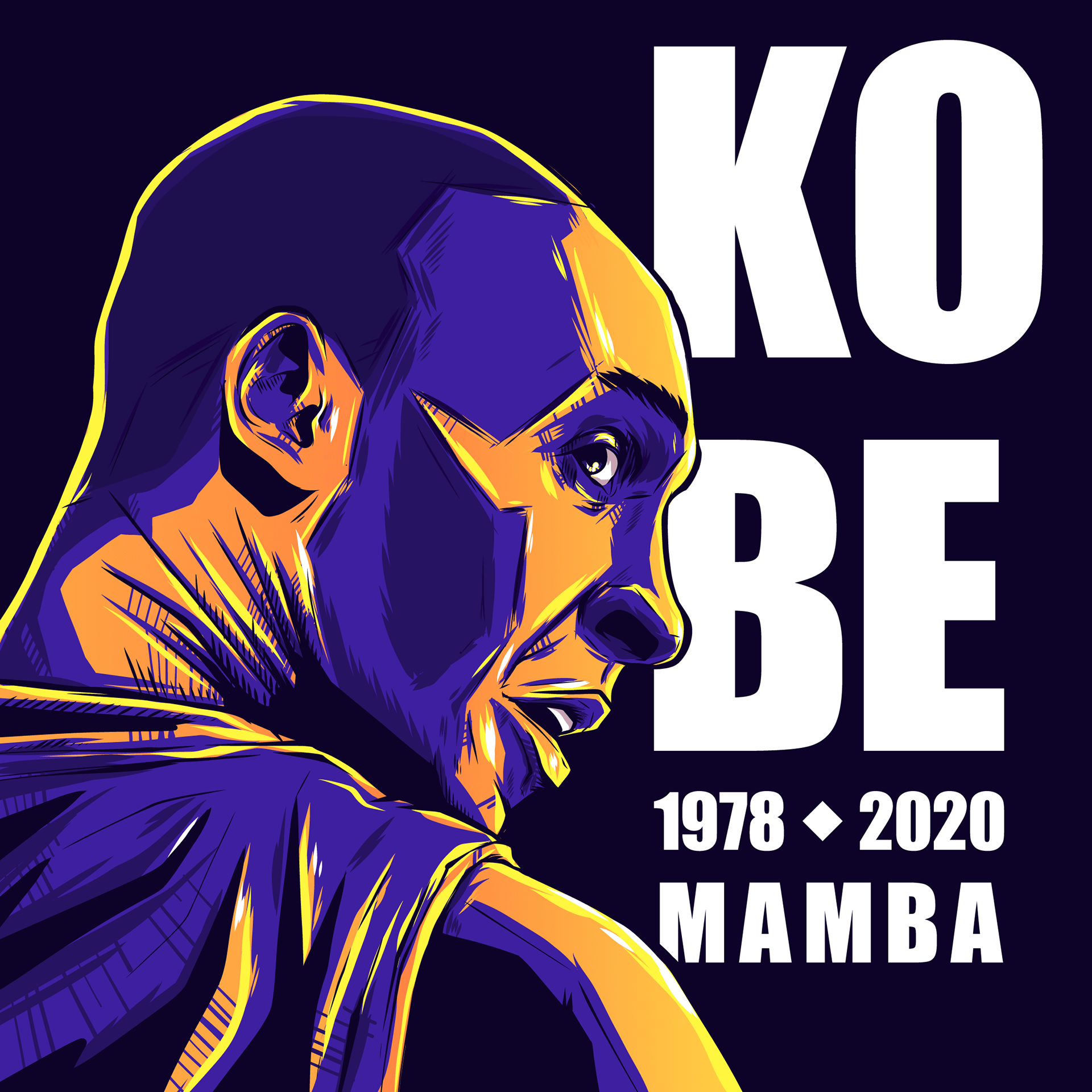 Vlad Dumitrescu – Kobe Bryant Tribute Illustration