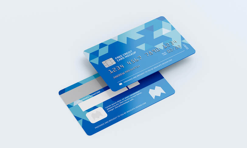 darmowy mockup karty kredytowej