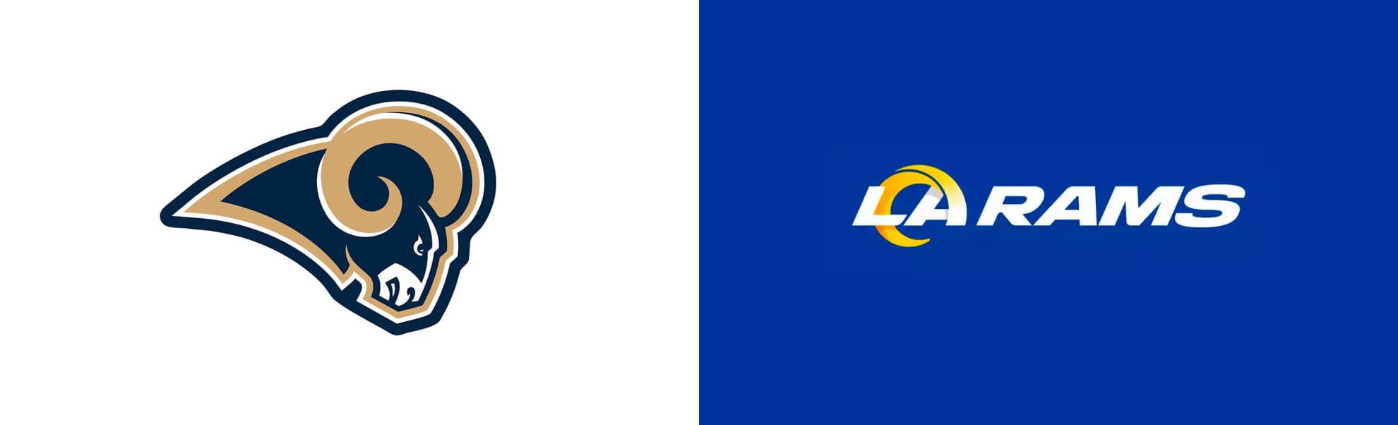 Stare inowe logo Los Angeles Rams