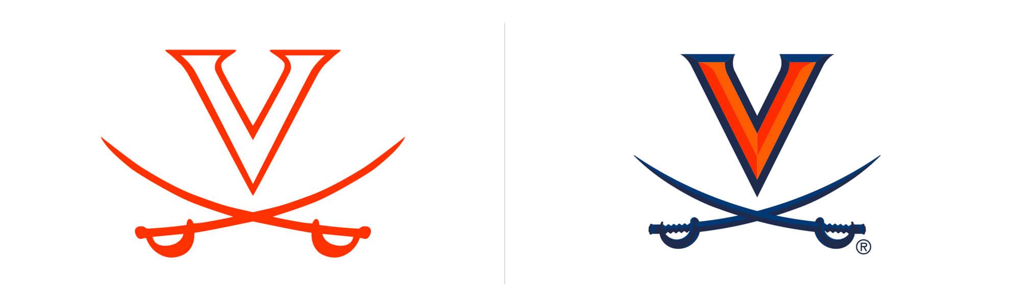 virginia cavaliers znowym logo