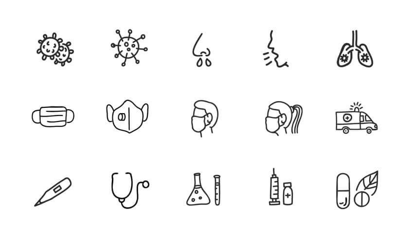 darmowe ikony koronawirus