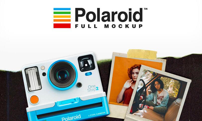darmowy mockup polaroid