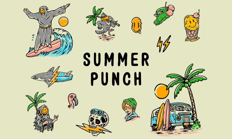 darmowe letnie ilustracje