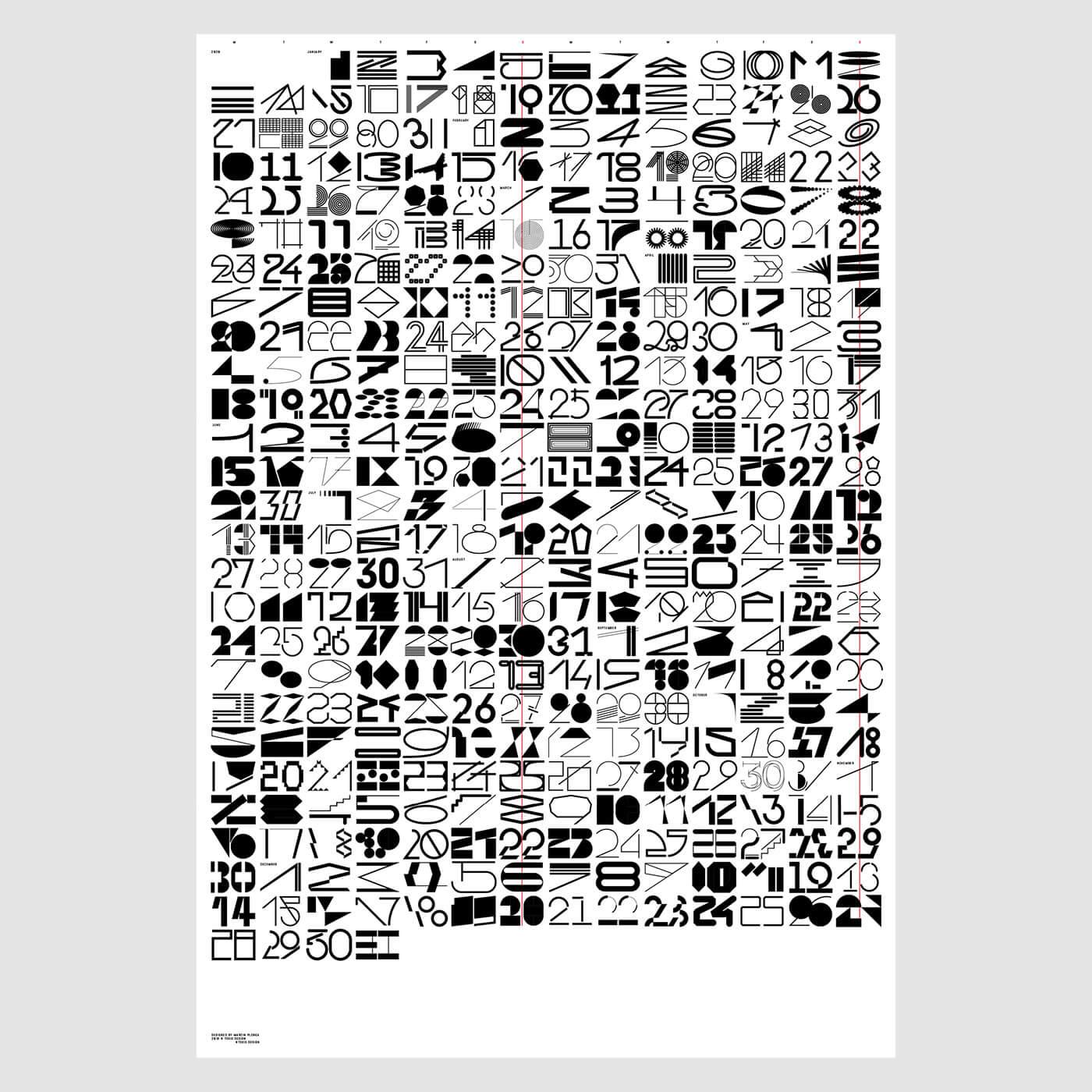 """Tokio Design / Marcin Płonka """"Niepraktyczny kalendarz Tokio 2020"""""""