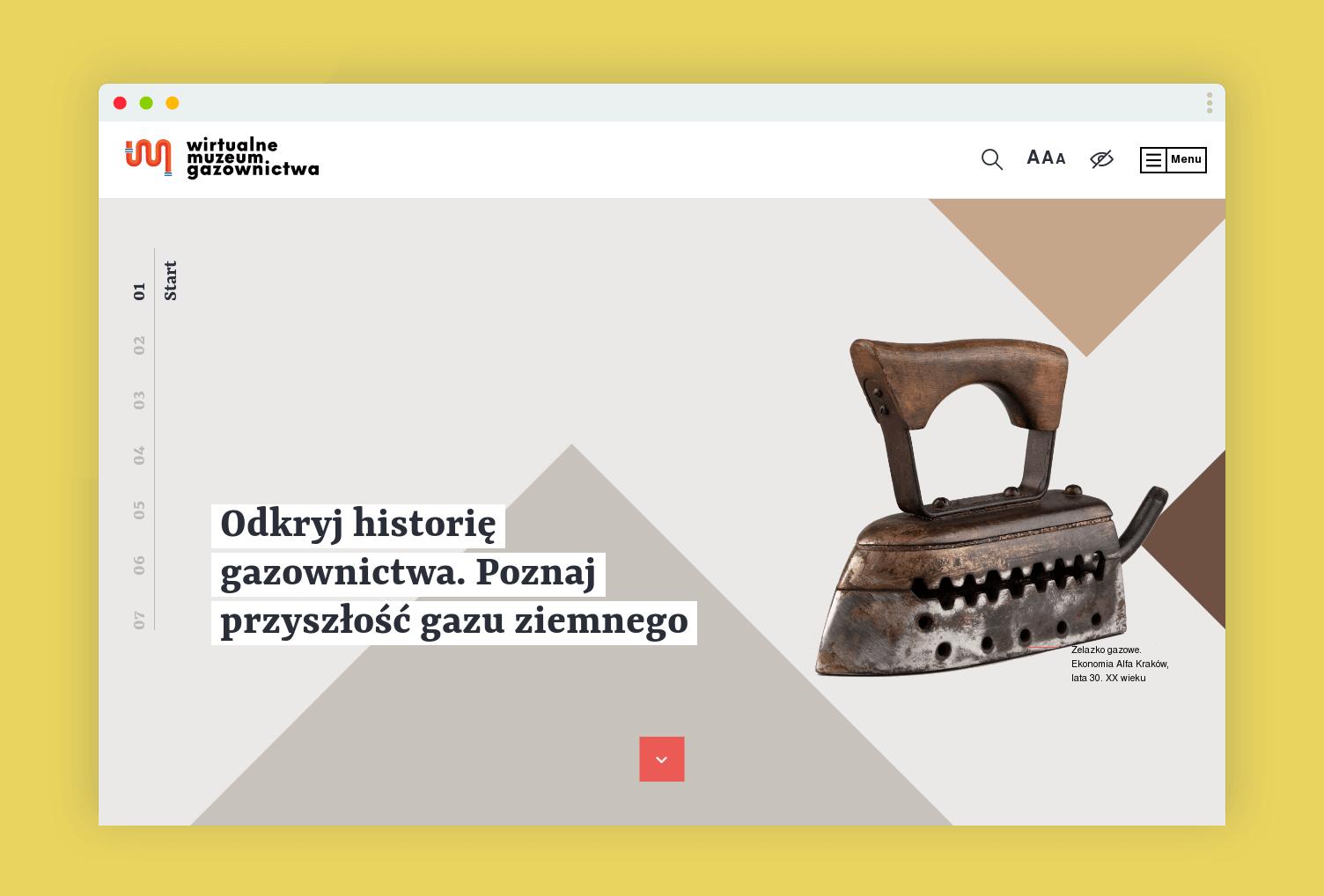 """Openform design & digital studio """"Wirtualne Muzeum Gazownictwa"""""""