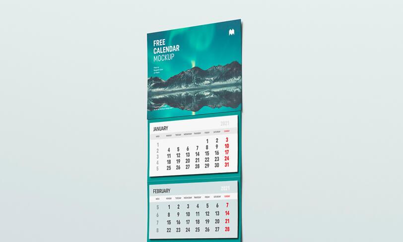 darmowy mockup kalendarza