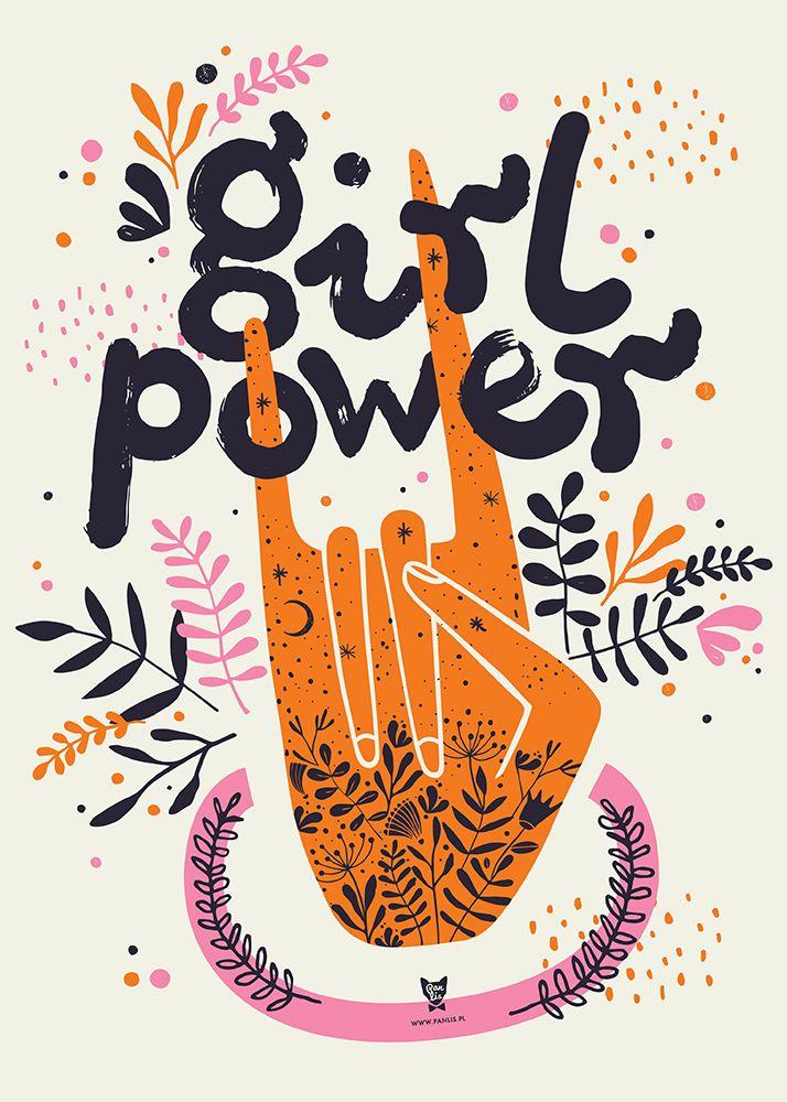 Plakat: Kasia Lisiak Pan Lis / Girl Power / 2020