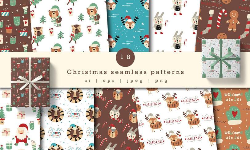 darmowe świąteczne patterny