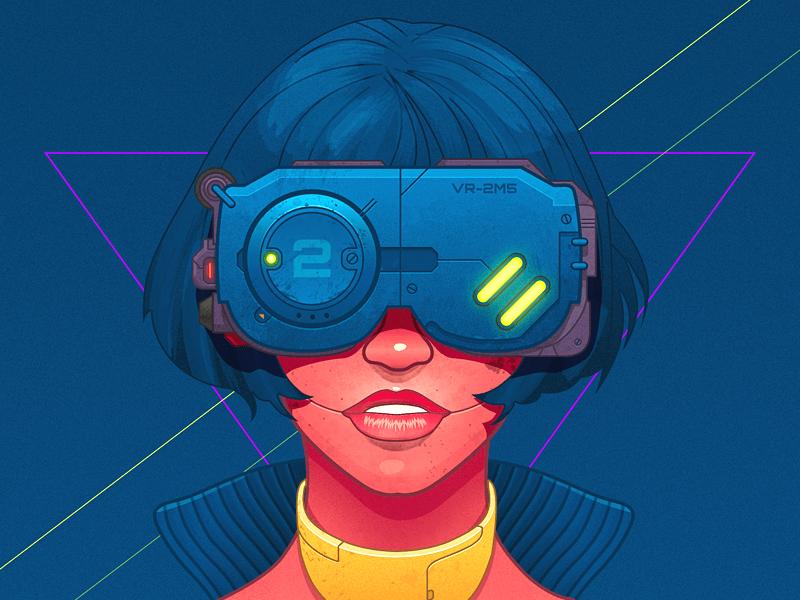Csaba Gyulai – Cyberpunk girl - infographic element