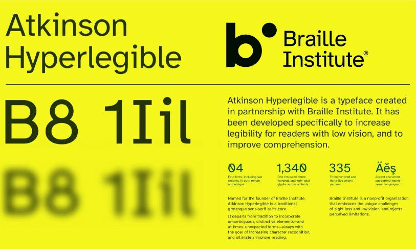 Atkinson Hyperlegible - font zapewniający większą czytelność