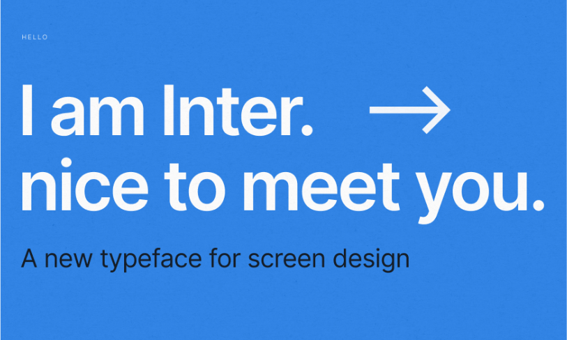 Inter UI Font Family - font doUI