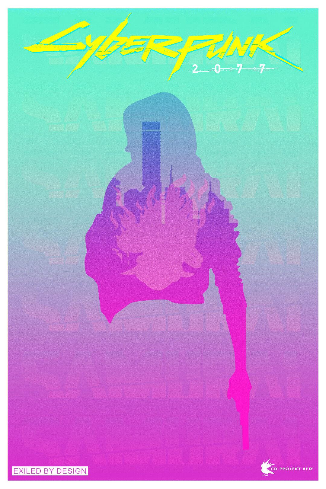James Abels – Minimal Cyberpunk 2077 Poster
