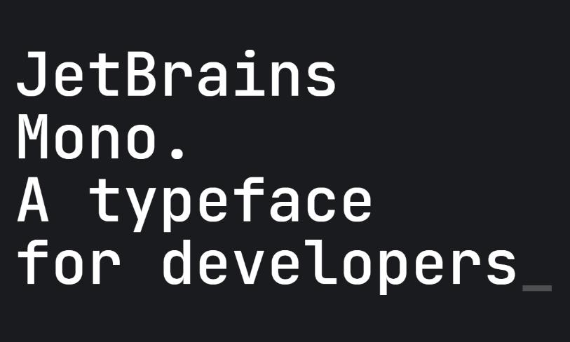 JetBrains Mono - font dla programistów