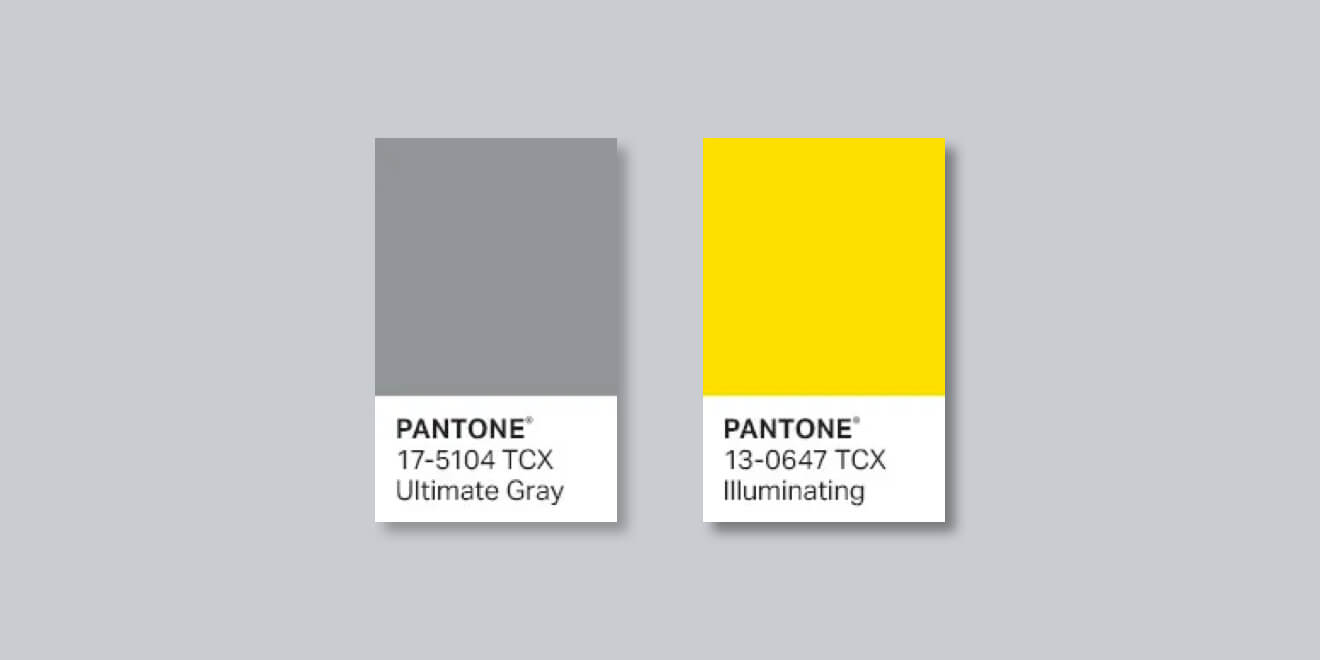 Kolory roku Pantone 2021: Ultimate Gray i Illuminating – Design Alley