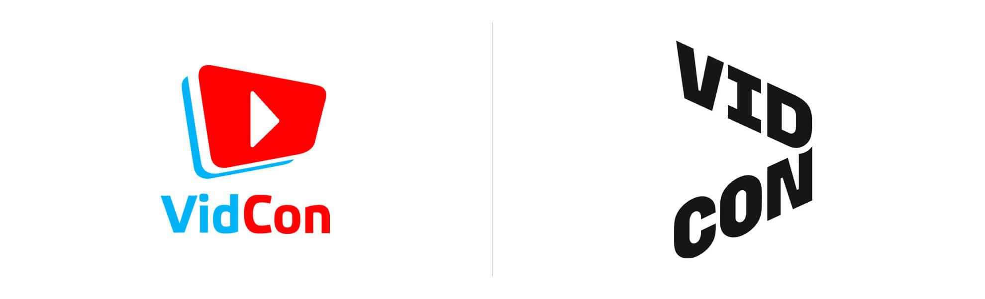 Vidcon zmienia logo