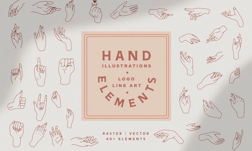 darmowe wektorowe dłonie