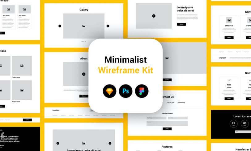 darmowy wireframe kit