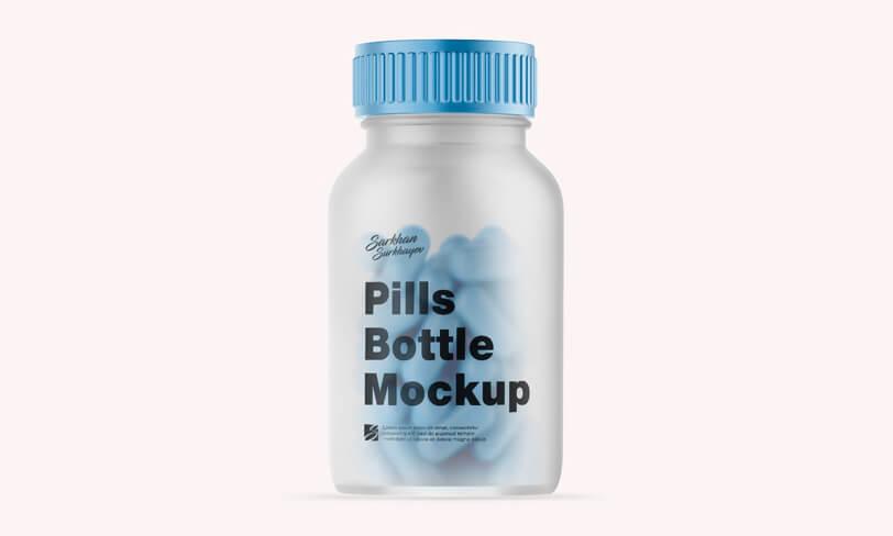 darmowy mockup butelki leków