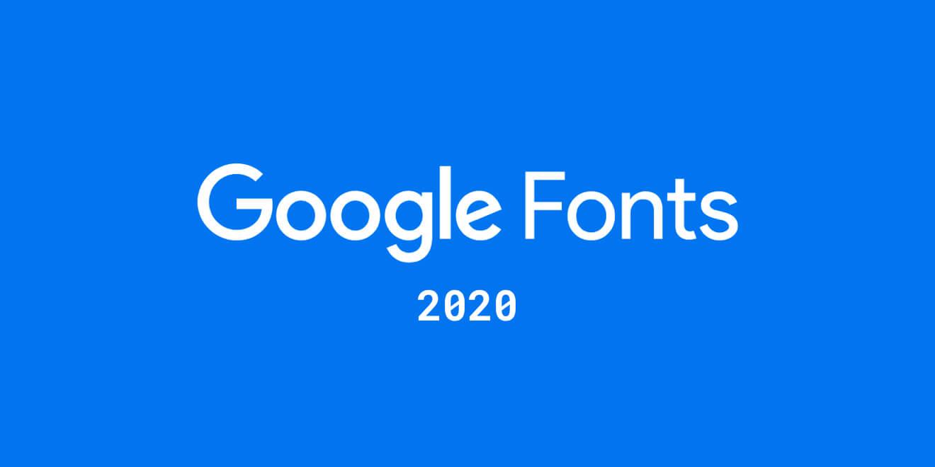 Google Fonts 2020