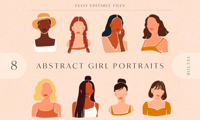 darmowe portrety ilustracje kobiety