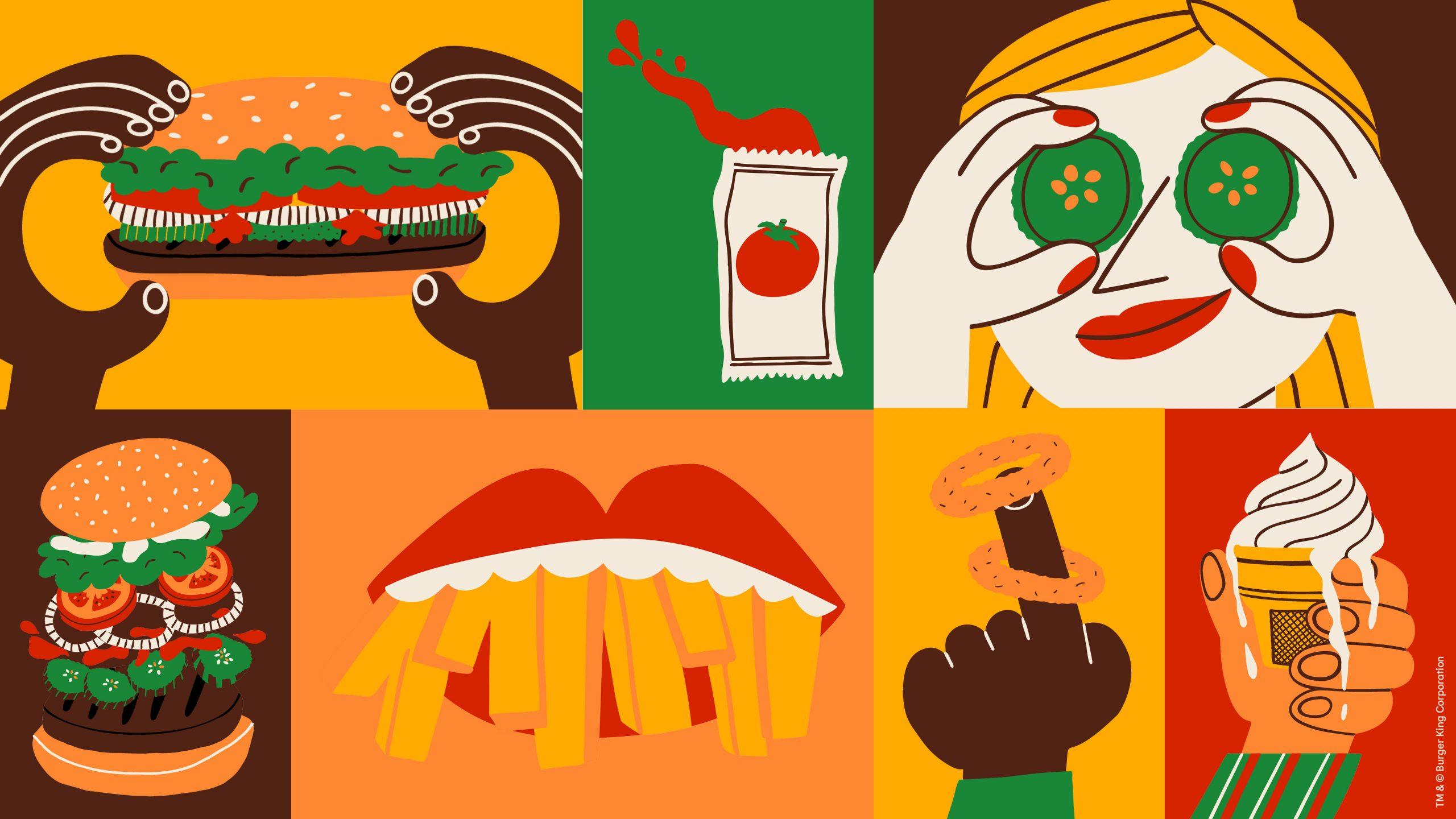 burger king ilustracje