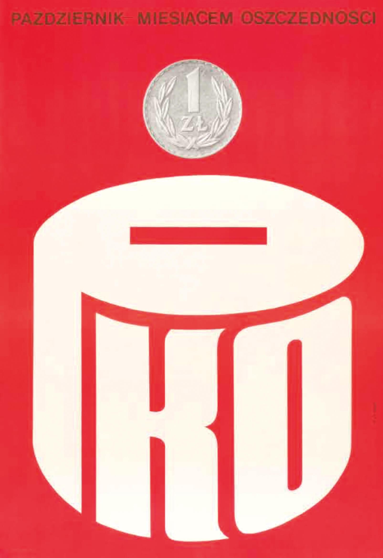Skarbonka PKO plakat autorstwa Karola Śliwki