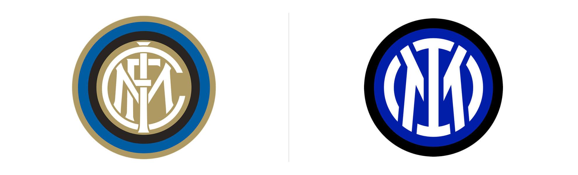 inter mediolan nowe istare logo