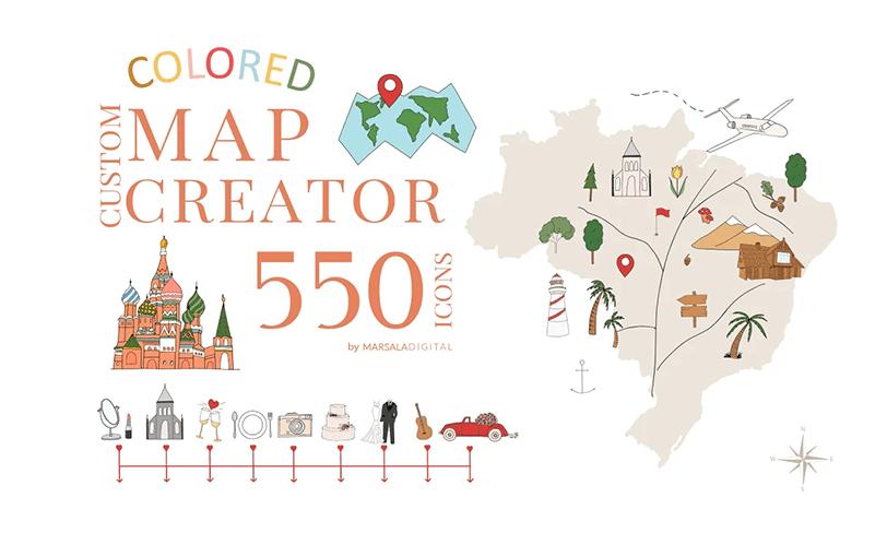 darmowe ilustracje dotworzenia map