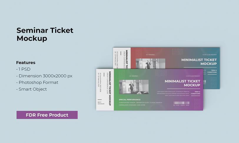 darmowy mockup biletu