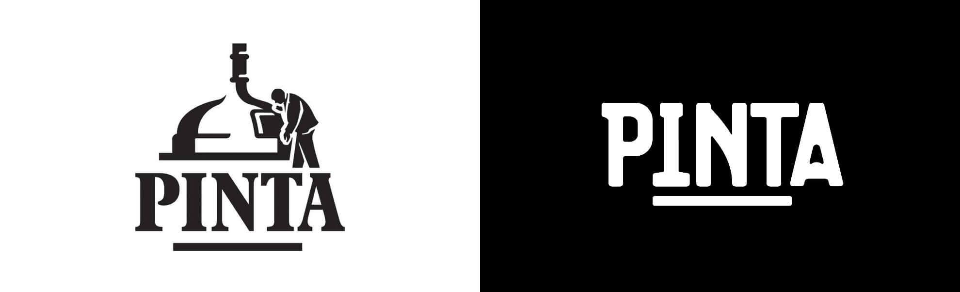 Stare inowe logo browaru Pinta