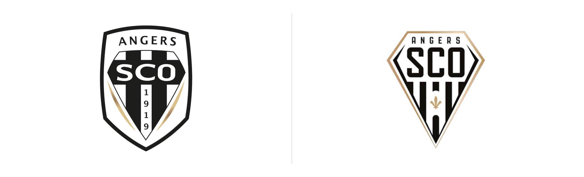 Angers SCO nowe istare logo