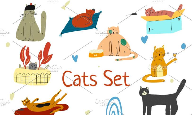 darmowe ilustracje kotów