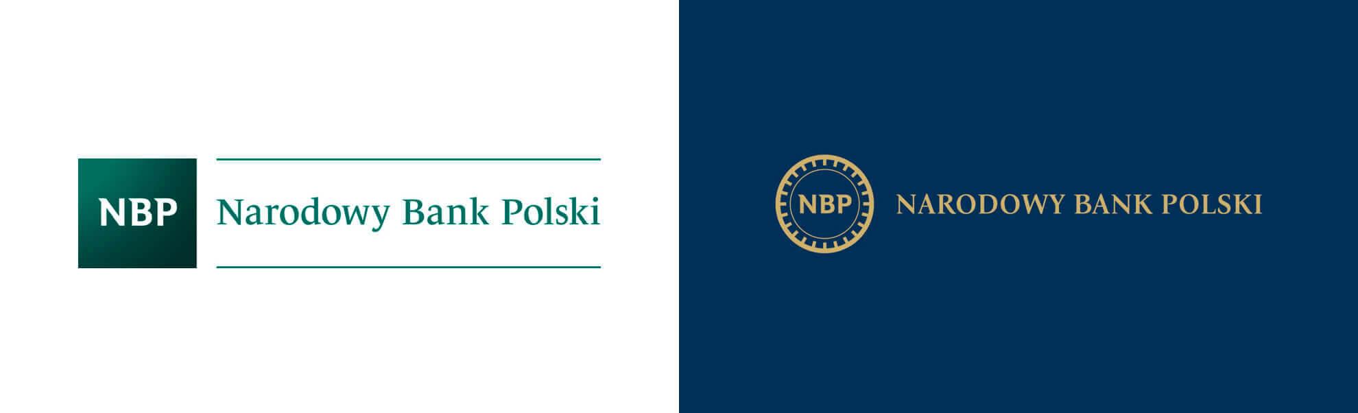 Stare inowe logo Narodowego Banku Polskiego