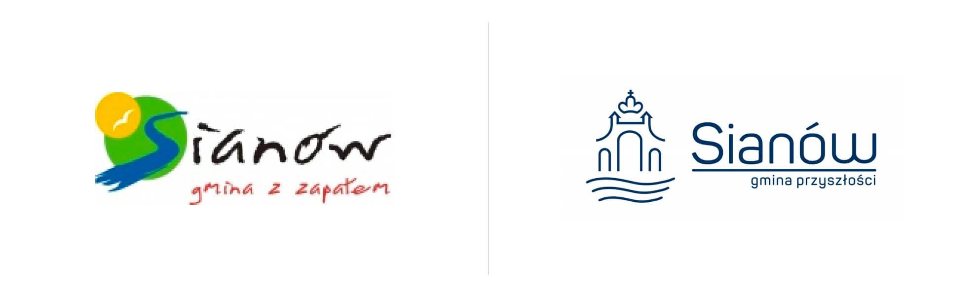 sianów zmienia logo