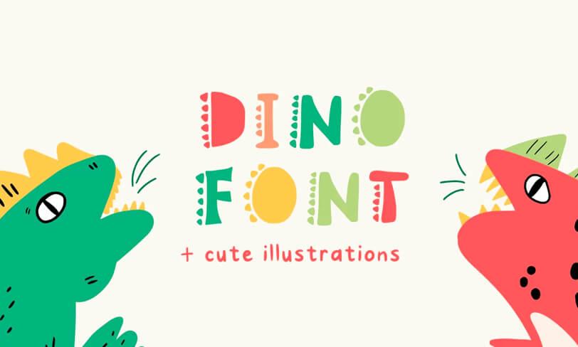 darmowy font dla miłośników dinozaurów